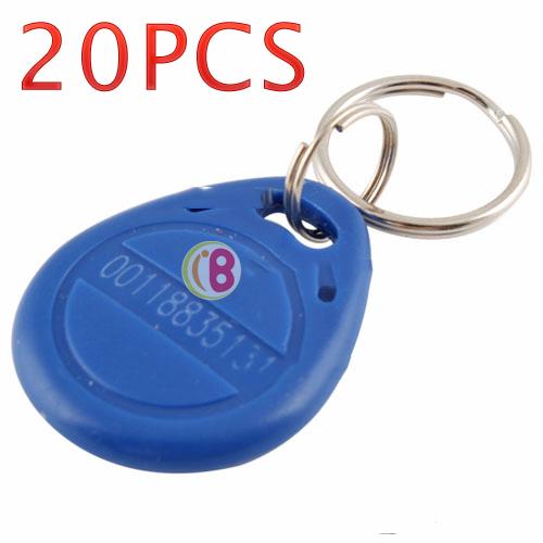 NiceBid Lowest price 20PCS Proximity ID Token Tag Key Fob Keyfob 125Khz RFID top quality(China (Mainland))