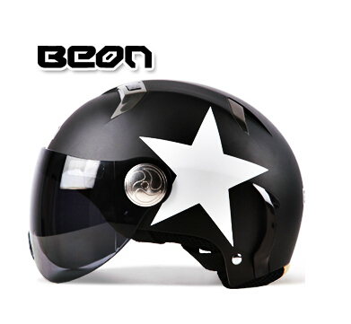 Classical Genuine BEON fashion personality motorcycle electric car Harley helmets half helmet safety four seasons general use(China (Mainland))