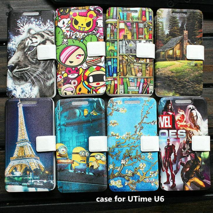 PU leather case for UTime U6 case cover(China (Mainland))