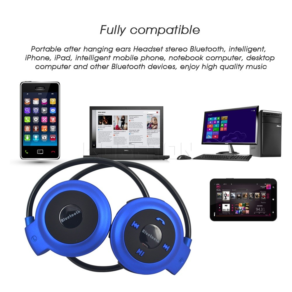 2016 NEW Sport Bluetooth Wireless Headphone Stereo Bass Headset Earphone Hands-free Call For iPhone For Samsung  Laptop