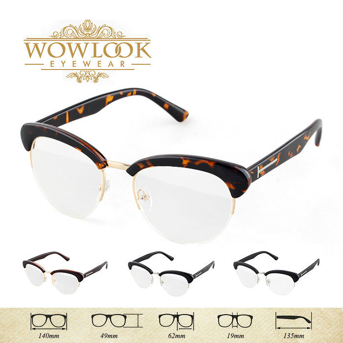 Wowlook Brand New Acetate Eyeglasses Eye Glasses Optical Frame Spectacle Eyewear Unisex Black Leopard Coffee Matt Black FDY2054(China (Mainland))