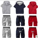 TOP hot New GAPS*S kids Short-sleeved jacket + pants 2 pcs set Children's sports suit brands Bear suit Free shipping(China (Mainland))
