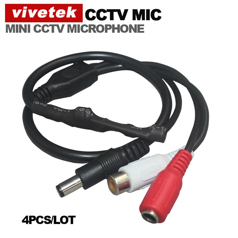 VIVETEK Audio Surveillance Wide Range Mini CCTV Microphone for Security Camera(China (Mainland))
