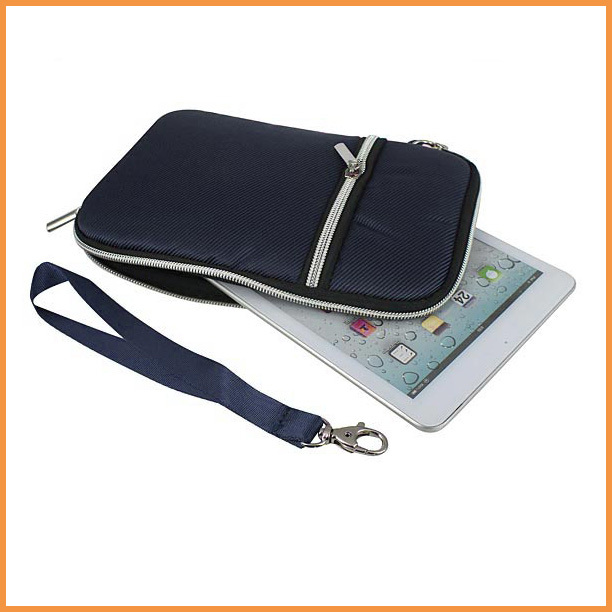 """Free shipping New Hot sale Blue 8 inch Soft Sleeve Zipper Case Hand Bag for mini E-book / Tablet PC Accessory 7.9""""(China (Mainland))"""