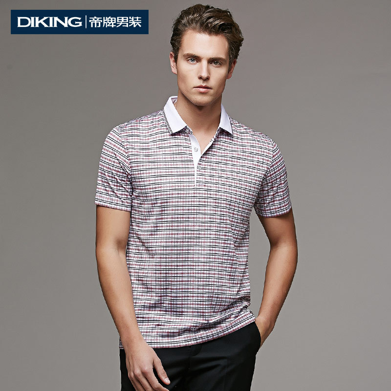 New 2015 Summer Style Mens Polo Shirt Short Sleeve Brands Top Quality Fabric Lyocell Plaid Printed Designer Casual Polo Shirts(China (Mainland))