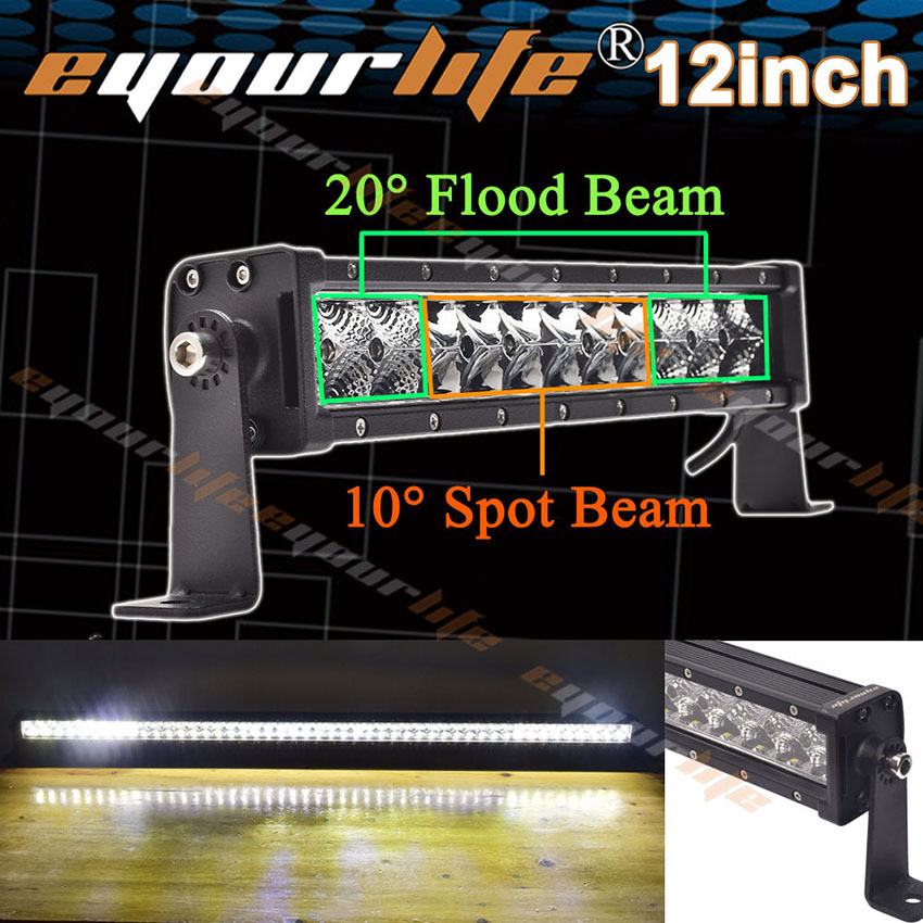 led light bar 12/14 inch 60W spot flood combo work driving led light bar Offroad SUV ATV<br><br>Aliexpress