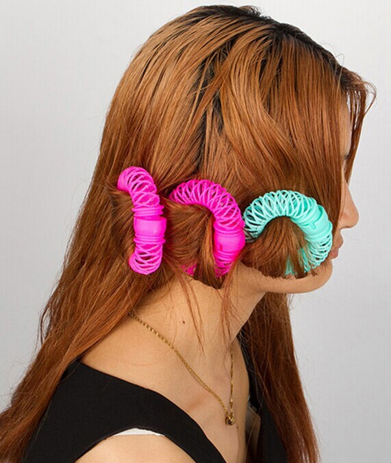 Useful Women Hair Curlers 6pcs/Lot Candy Color Hair Bendy Rollers Easy