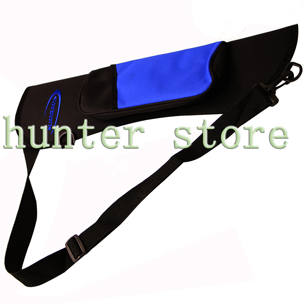 Archery Hunting Sling shot Bow Arrows Holder Back Arrow Quiver Bag with Adjustable Strap