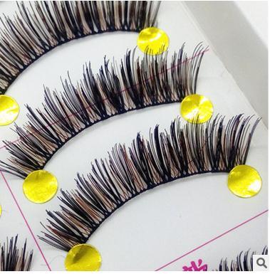 faux cils 038 maquiagem maquillage make up eye lashes faux cils pur main noir brun cils coton tiges fil - Coloration Cil
