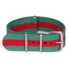 Multicolor ocasional 22 mm militar del ejército reloj banda de la otan correa correa de reloj de Nylon tejida de fibra de 22 mm hebilla