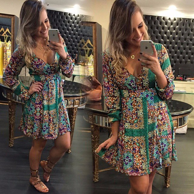 2015-new-women- -party-dress-celebrity-long-sleeve-print-dress-Bodycon-Mini-Dress-Casual-dress