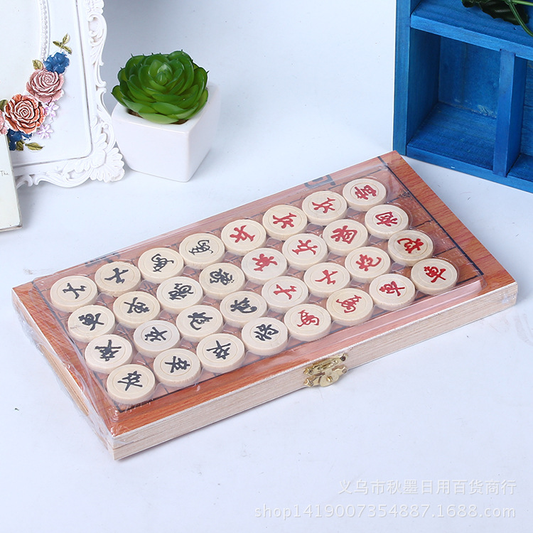 Folding Chinese Chess Board Suits Children Learn Special Board Educational toys Xiangqi Set Chess Pieces woodiness Chessboard(China (Mainland))