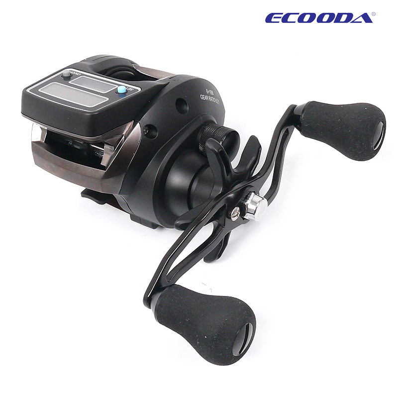 Ecooda OFB500 baitcasting fishing reel with electronic counting and dual power 6+1BB,6.2:1 left/right hand,free shipping(China (Mainland))