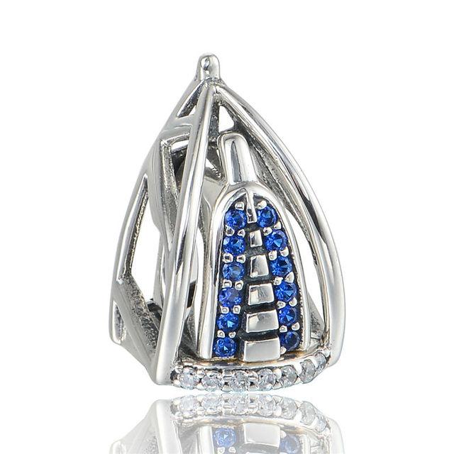 925 - серебристо-ювелирные бусины аравия башня с камнями бусины Fit Chamilia пандора браслеты серебро 925 мода DIY