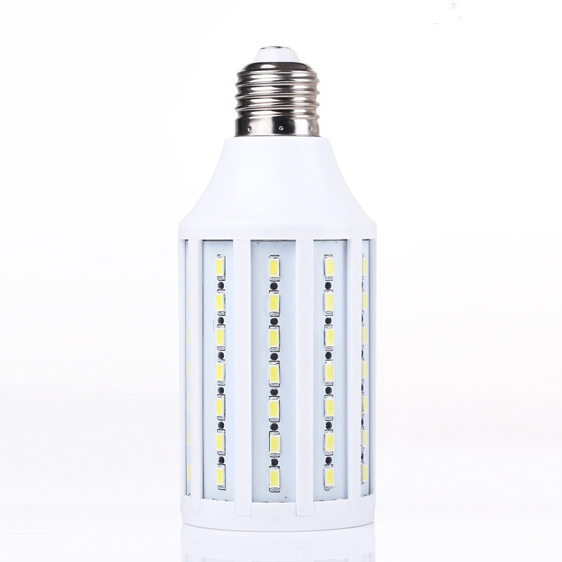 2015 NEW led lamps 57 LED 5050 SMD Screw Corn Light Bulb AC / DC 12V LED Lamp Warm & White 5PCS(China (Mainland))