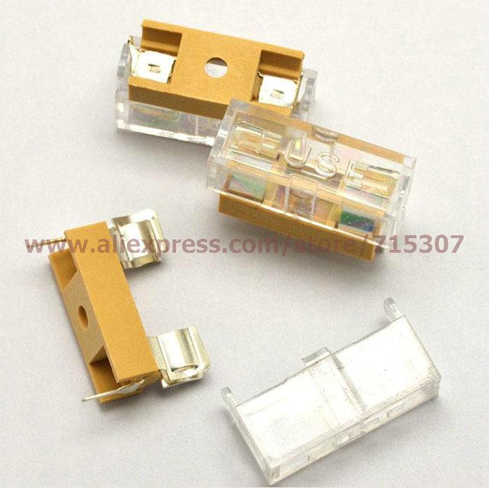 Гаджет  20pcs 5*20 / 5x20 fuse holder with transparent cover free shipping None Электротехническое оборудование и материалы