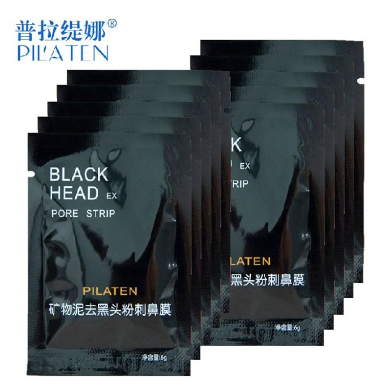 10pcs/lot Face Care PILATEN Nose Facial Blackhead Remover Mask Pore Cleanser Black Head EX Pore Strip Face Mask Acne Treatment