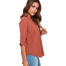Femininas Blusas Y Camisas Mujer V-neck Chiffon Blouse Women Blouses Tops Woman clothes Shirt Plus Size Vetement Femme Chemise