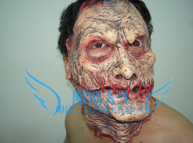 Horrible Ghost Monster Face latex soft Mask Realistic Halloween Party Prop Costume - Fashion Supplies store