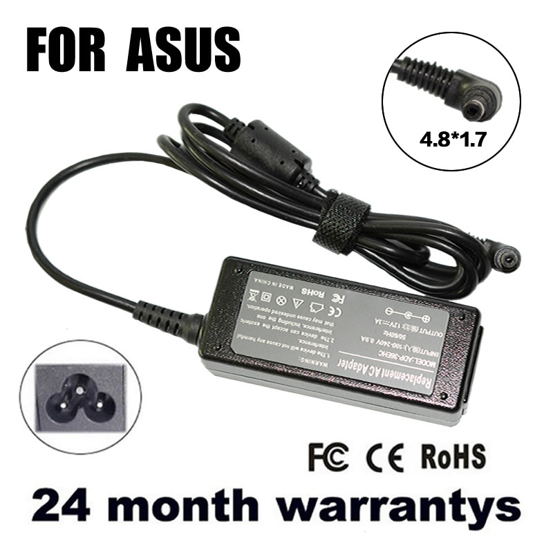 12V 3A 4.8*1.7MM Replacement Battery Charger AC Adapter For Asus Eee PC 904 900HA 900HD 904HA 904HG R33030 1000HT 1000HV 1000XP(China (Mainland))