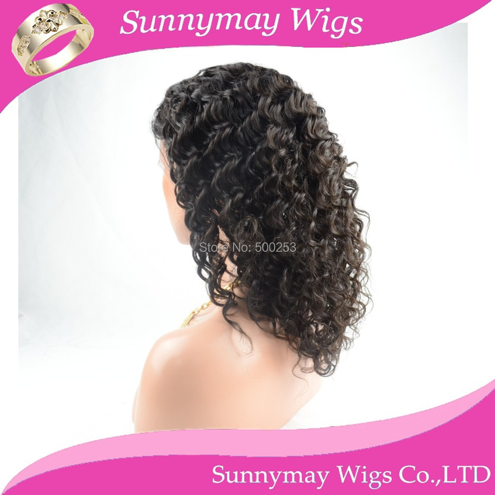 Hot selling Stock Wave Indian Virgin Human Hair Lace Front Wigs Glueless Front Lace Wig With Bleached Knots Baby Hair<br><br>Aliexpress