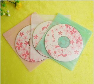 Free shipping PP CD and DVD sleeve  for 2 discs