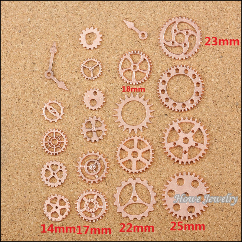 Wholesale mixed 100 pcs Rose Gold Gear Steampunk Pointer pendant Fit  Charms handmade Fashion jewelry accessories 80053<br><br>Aliexpress