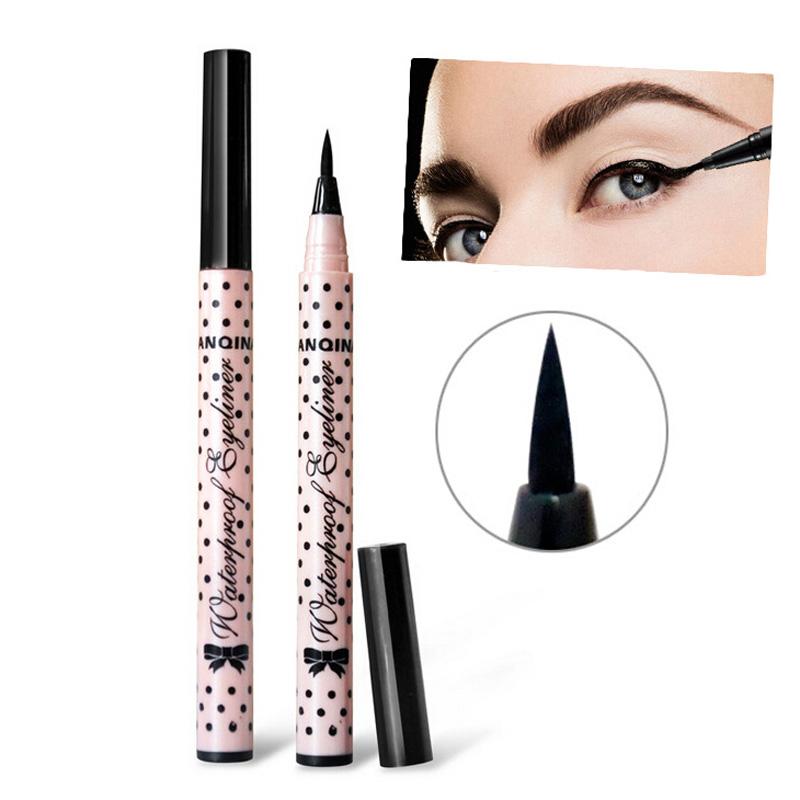 1Pcs Professional Waterproof Liquid Eye Liner Eyeliner Pencil Cosmetics Eye Makeup Beauty Make Up Tools Black Eyeliner Eyes Pen(China (Mainland))