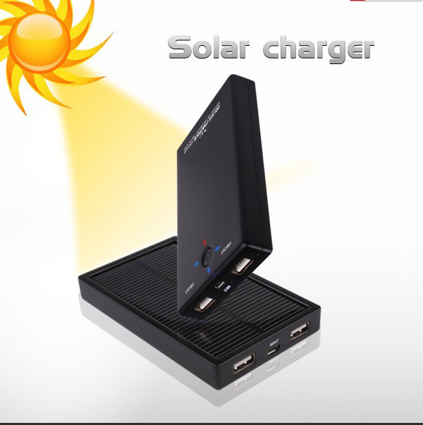 Universal 5000mah phone solar power banks with Double USB Output high capacity emergency portable charger Free Shipping