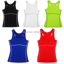 New StyleBright Color Loose Casual Women Vest Fast Dry Sports Yoga Tank Top Shirt NewFreeShipping