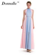 Buy Donnalla Women Dress Summer Sexy Shoulder Maxi Women Evening Party Dress Pink Blue Vintage Long Beach Boho Chiffon Dresses for $26.22 in AliExpress store