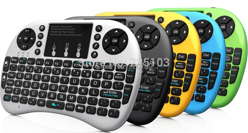2.4GHz Rii Mini i8+ Wireless Keyboard With Touchpad Teclado Mouse Combo For PC HTPC Smart Android TV Box Game Keyboards 5 Colors(China (Mainland))