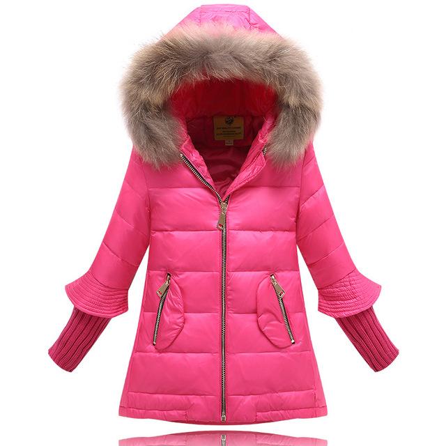 2016 Новая Мода зимняя куртка для Девочки пуховики Пальто теплый Дети детские толстая утка пуховик Детей Outerwears