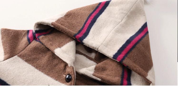Скидки на Детские Девушки Осень Зима Пальто Куртки Дети Длинное Пальто Девушки Теплая Верхняя Одежда Пальто Кашемировое пальто И Пиджаки Детская Одежда H25