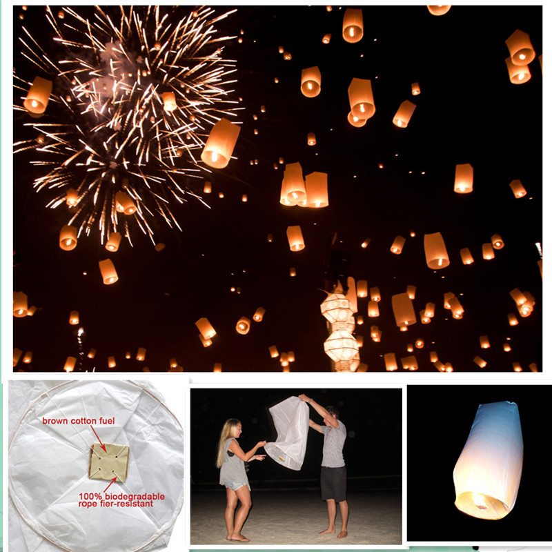 Cylinder shape 8pcs/lot lightweight fly sky lantern for halloween holiday party decorations free shipping(China (Mainland))