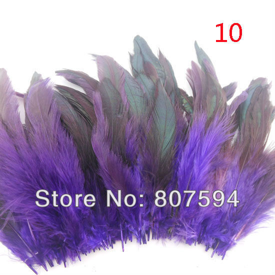 Free shipping Hot sale 50pcs lot 12 18cm Multi Color Dyed Badger Saddle Rooster feather Hair