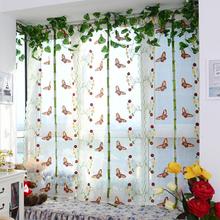 Splendid 2015 pastorale finestra tulle tenda romano ricamato pura per la cucina soggiorno camera da letto tenda della finestra dello schermo(China (Mainland))
