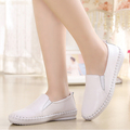 four season Really leather second layer of leather women flat Shoes Casual shoes slip on Women