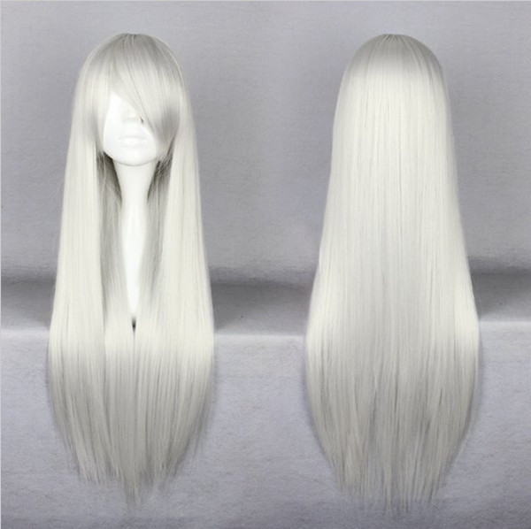 Free Shipping Top Grade Final Fantasy Sephiroth Long Straight Beautiful Silvery White Cosplay Wig<br><br>Aliexpress