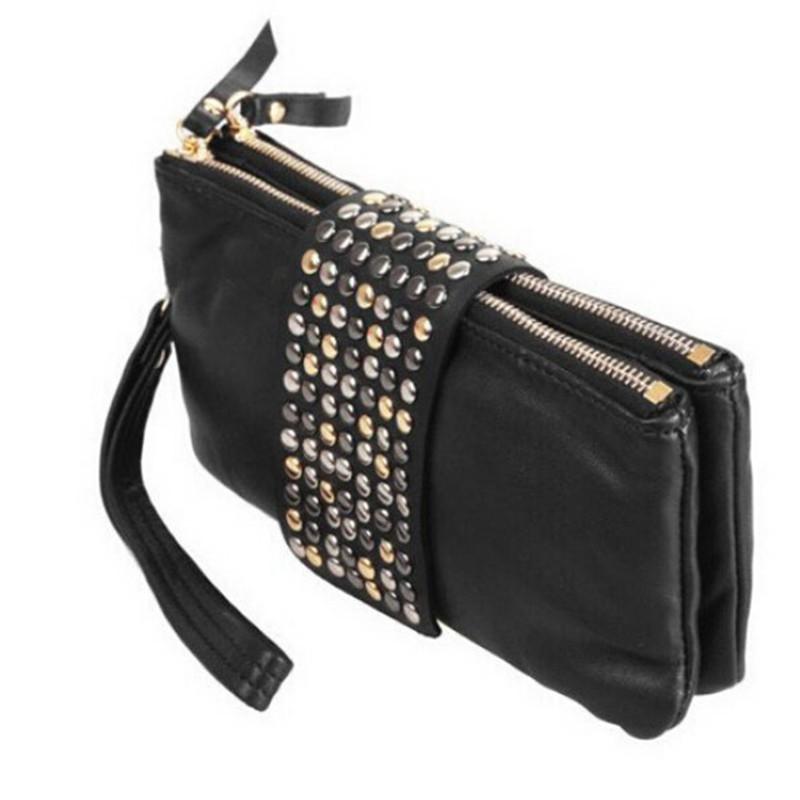 2015 Women wallet Clutch Bag New Arrive Hot selling PU Leather Foctory Price Fashion designer Rivet bag L7-375<br><br>Aliexpress