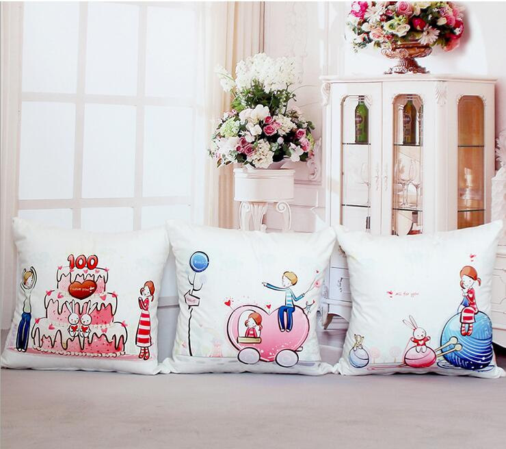 Free Shipping 1 pcs 45cm Cushion Cover and Pillow Case for Office Chair Back Cushion Sofa Throw Pillow XINY011(China (Mainland))