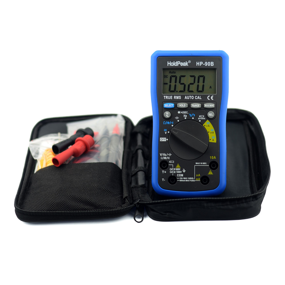 Multimerto DigitalHoldPeak HP-90B True RMS Digital Multimeter Auto Range Max/Min and Battery Tester with Temperature Unit Select(China (Mainland))