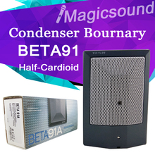 Half-Cardioid Condenser Microphone BETA91A !! Kick Drum Microphone BETA91 Condensor Wired Bourndary Microphone(China (Mainland))