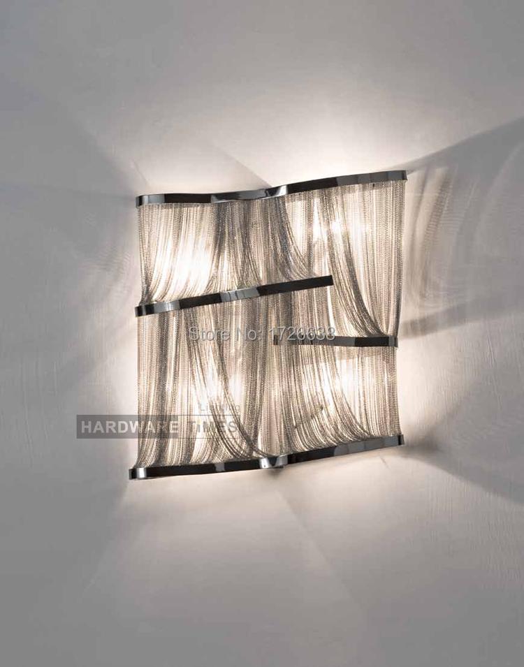 Retro modern wall lights lamp Italian Stream tassel hanging aluminum home decoration fixtures lighting light free shipping(China (Mainland))