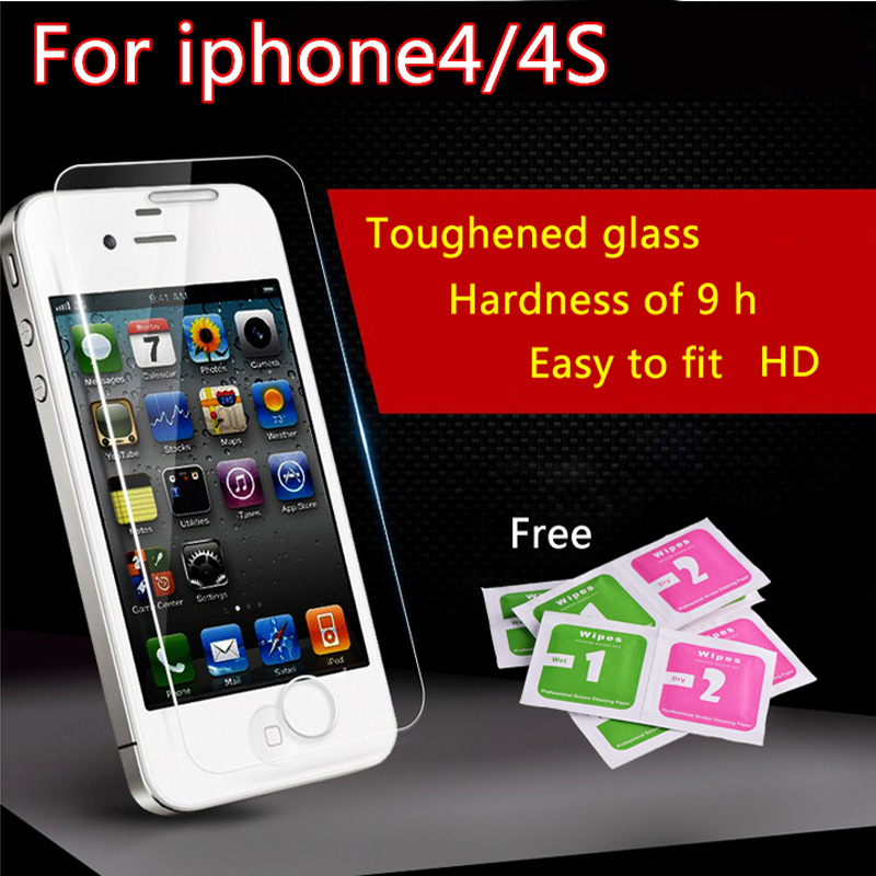 film on for iPhone 4s Tempered Glass HD Premium Real Film font b Screen b font