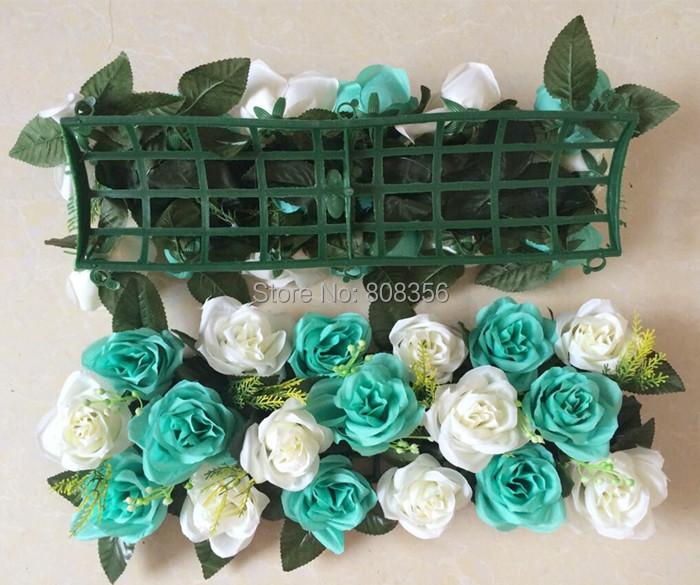 8Pcs Rose Square Shape Pavilion Flower 18 heads for Wedding Centerpieces Party Artificial Decorative Flowers 17 Color Designs(China (Mainland))