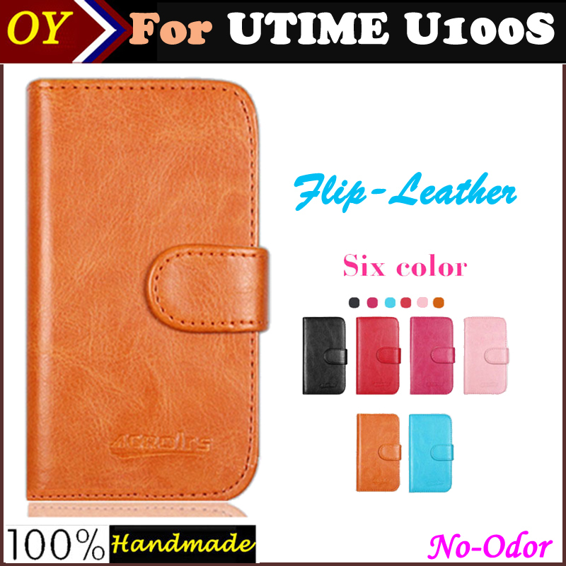 OYO! Free Shipping UTIME U100S MTK6582 Case Flip Vintage Leather Phone Case Cover Multi-Function Luxury Leather Wallet Design(China (Mainland))