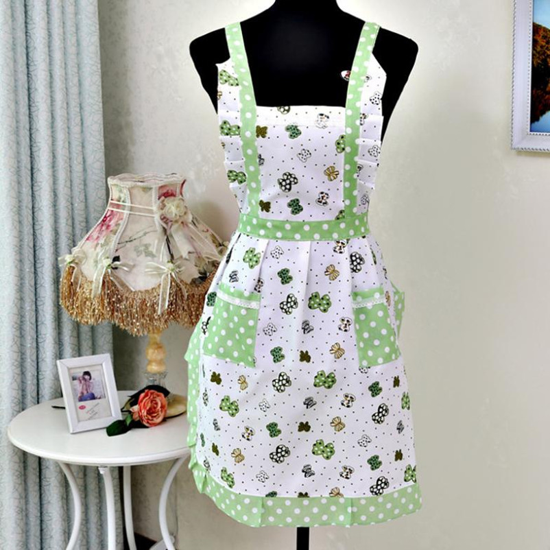 Women Lady Apron Restaurant Home Kitchen For Pocket Cooking Cotton Apron Bib Modern Life Vovotrade Free shipping&Wholesale(China (Mainland))