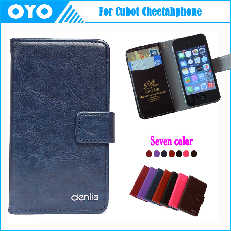 Hot!! Cubot Cheetahphone Case 7 Colors Luxury Genuine Leather Exclusive For Cubot Cheetahphone Phone Cover+Tracking