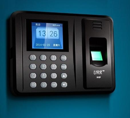 NEW AU PLUG Fingerprint attendance machine biometric fingerprint punch usb time clock English office attendance recorder(China (Mainland))